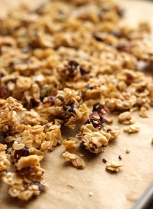 Granola after roasting