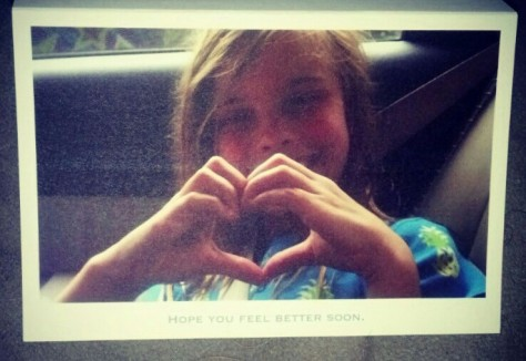 My beautiful niece sent me this card. :)