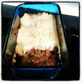 Grass-fed organic lamb shepherd's pie with cauliflower-sweet potato mash: click image for recipe.