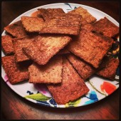 Plantain crackers: click image for recipe.