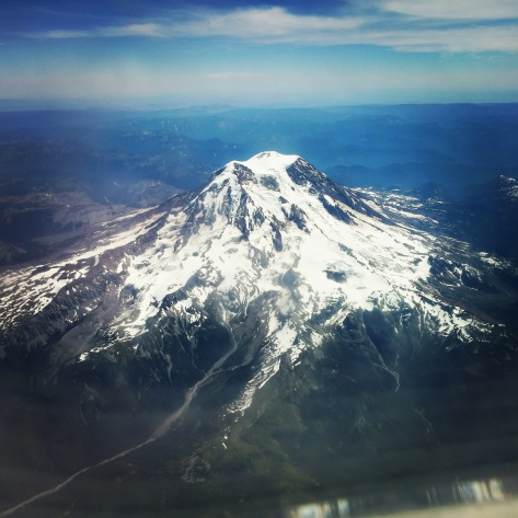 You can't get much better than this. Flying over Mount Rainier, leaving Seattle. And an unexpected side effect of my illness: my fear of flying is gone. I'm living on borrowed time, what do I have to fear? :)